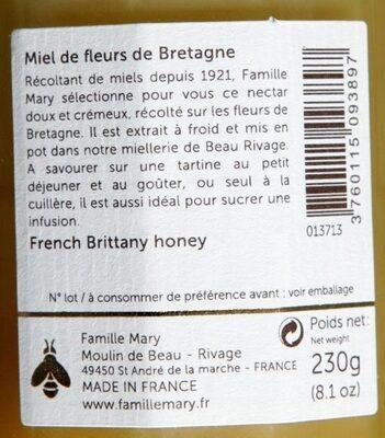 Miel de fleurs de Bretagne - Ingrédients - fr