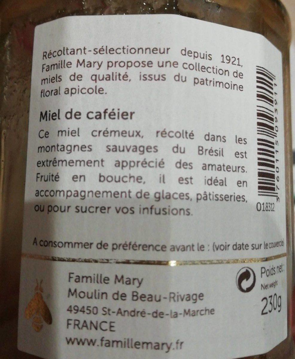 Miel de caféier - Ingrédients - fr