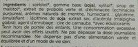 Chewing-gum fraîcheur - Ingrédients - fr