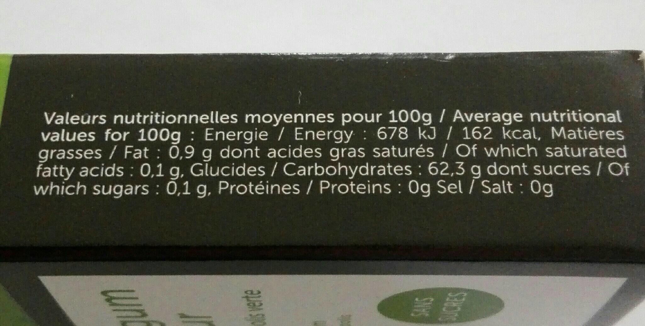 Chewing-gum fraîcheur - Informations nutritionnelles - fr