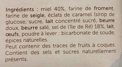 Pain d'épices au caramel - Ingrédients