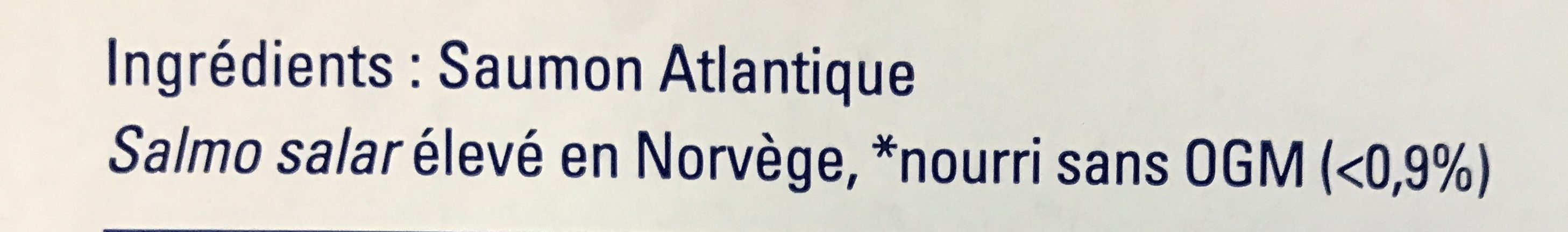 Pavé de Saumon Atlantique - Ingredients - en