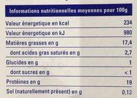 Pavé de Saumon Atlantique - Nutrition facts - en