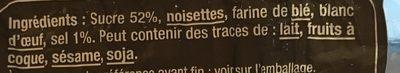 Le ptit craq - Ingrédients - fr