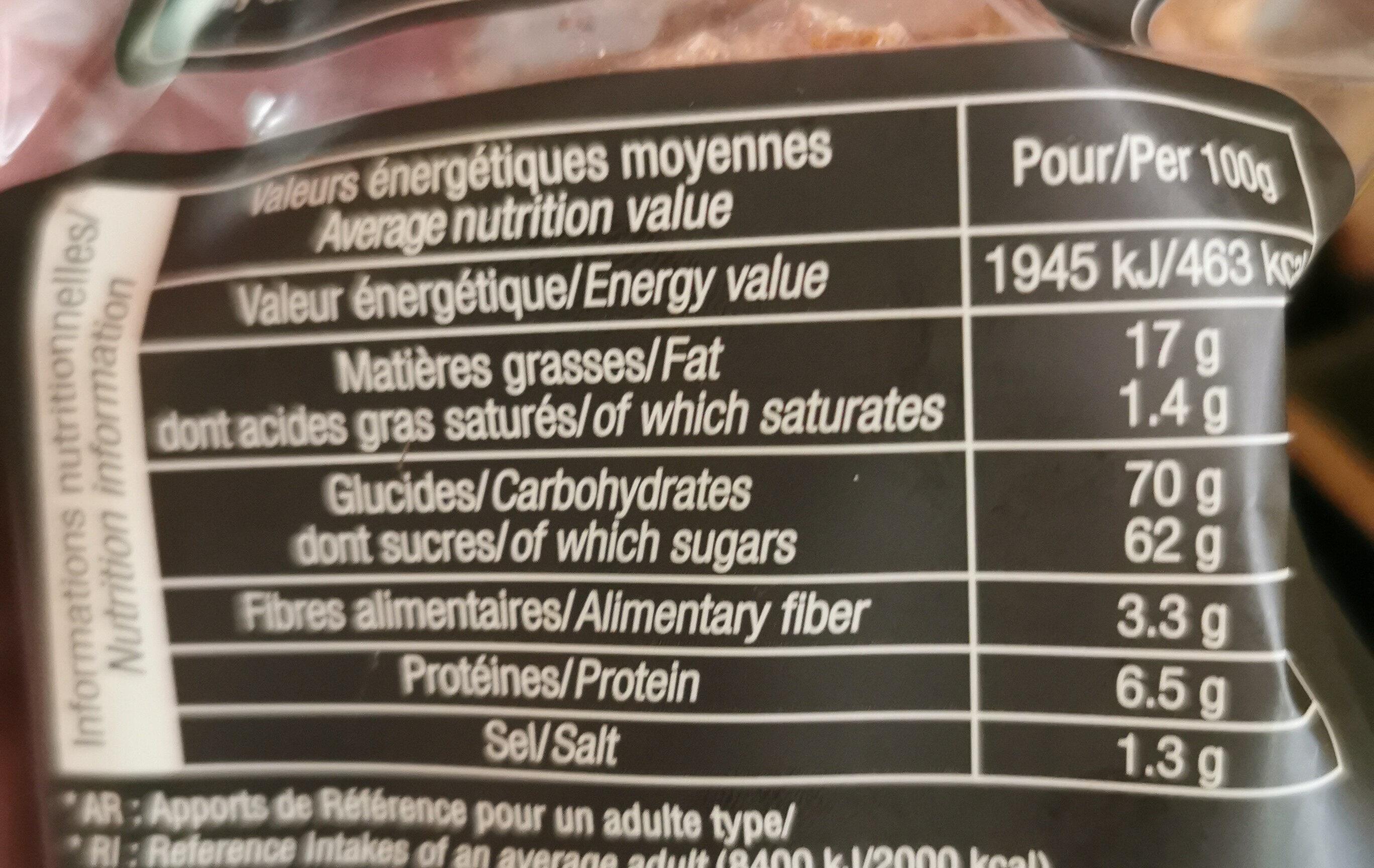 Le ptit craq - Informations nutritionnelles - fr