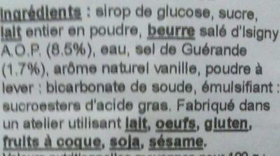 Caramels au beurre salé - Ingrédients