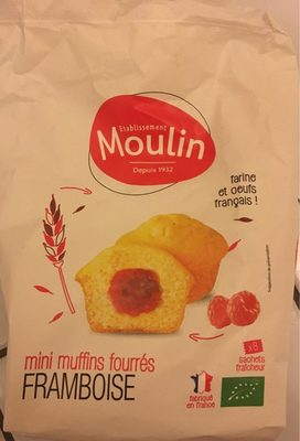Mini muffins fourrés framboise - Produit - fr