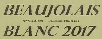 Beaujolais Blanc 2017 - Ingrédients - fr