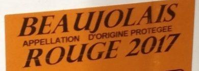 Beaujolais Rouge 2017 - Ingrédients - fr