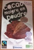 Cacao maigre en poudre - Product