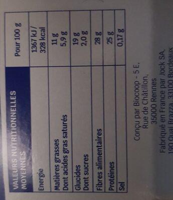 Cacao maigre en poudre - Valori nutrizionali - fr
