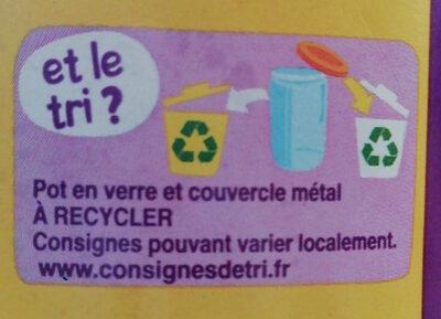 Ratatouille 1kg - Istruzioni per il riciclaggio e/o informazioni sull'imballaggio - fr