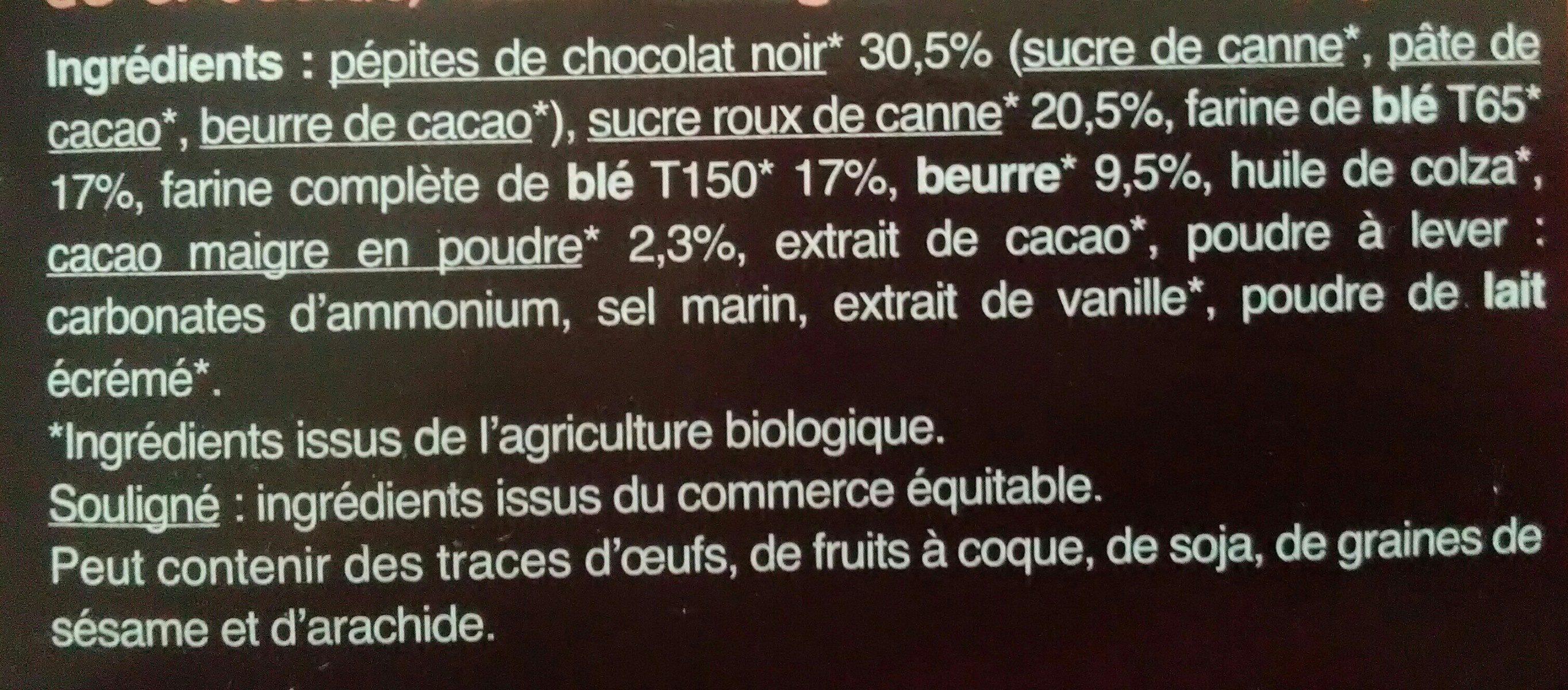 Cookies chocolat - Ingrédients - fr