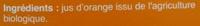 100% pur jus d'orange - Ingrédients - fr