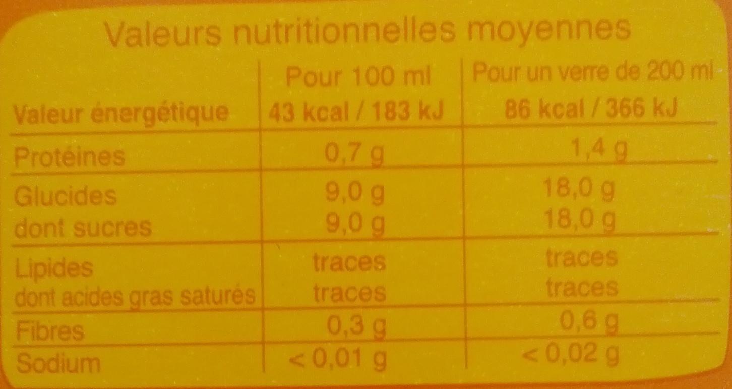 100% pur jus d'orange - Informations nutritionnelles - fr