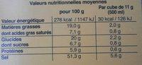 Bouillon de Poule - Informations nutritionnelles - fr