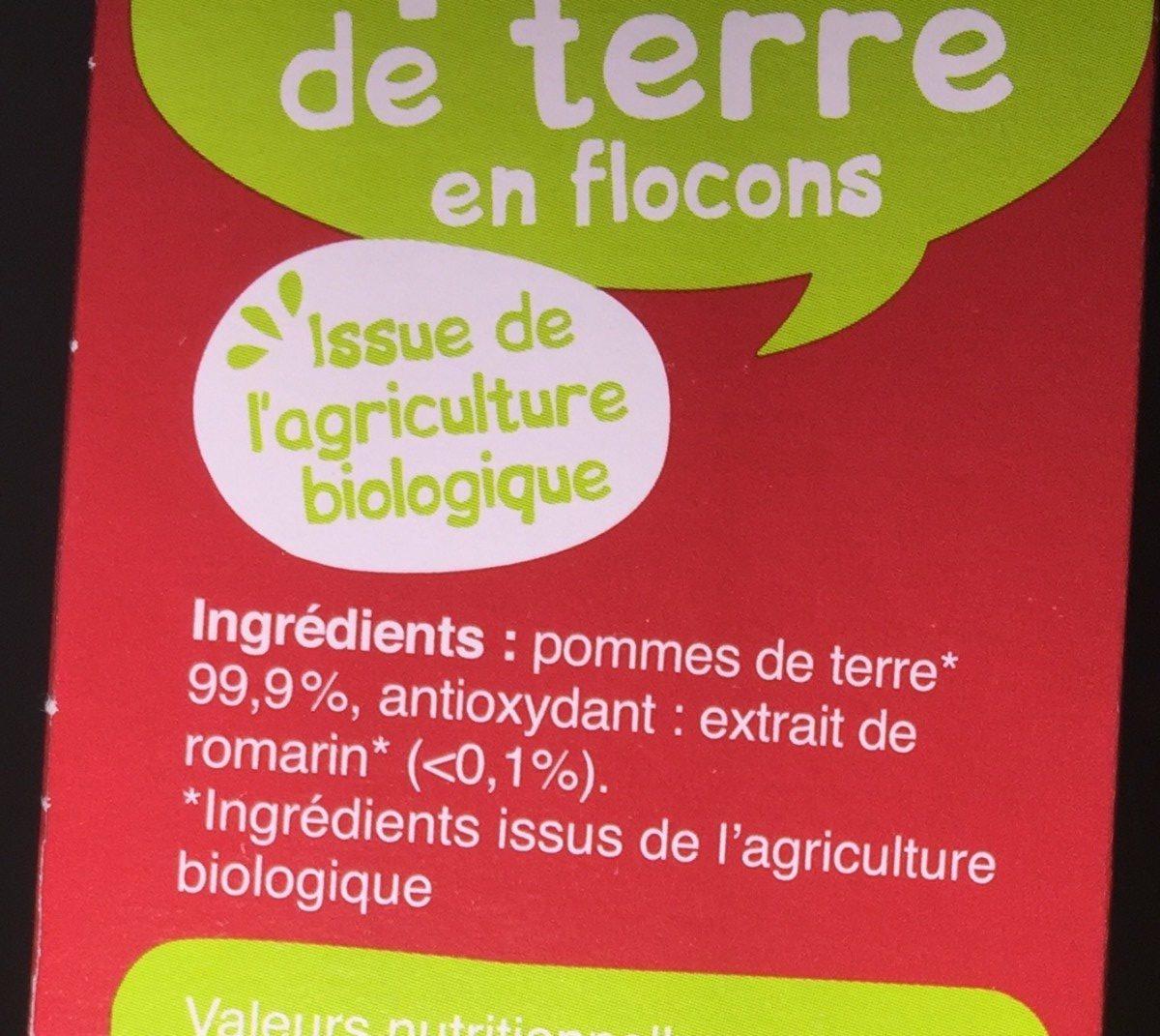 Purée de pommes de terre en flocons - Ingrédients - fr