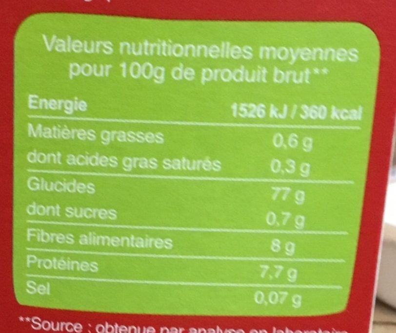 Purée de pommes de terre en flocons - Informations nutritionnelles - fr