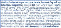 Galettes Bretonnes - Ingrédients - fr