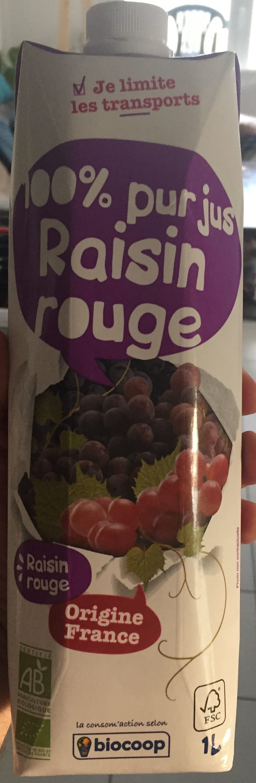 100% pur jus raisin rouge - Product