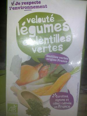 Velouté légumes et lentilles vertes - Product