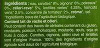 Velouté légumes et lentilles vertes - Ingredients