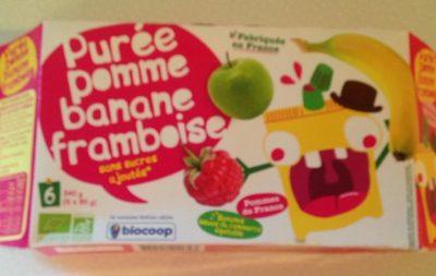 Purée Pomme Banane Framboise - Product