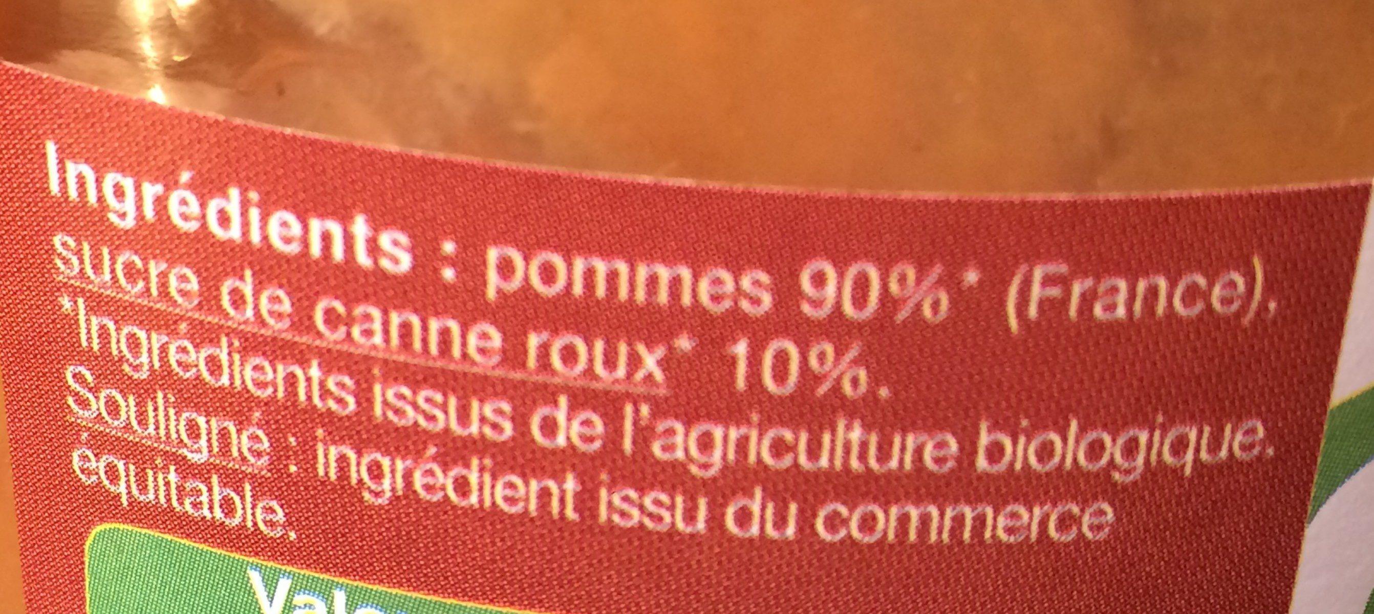 Compote Pommes - Ingrédients - fr