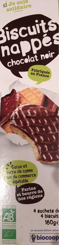 Biscuits nappés chocolat noir - Product