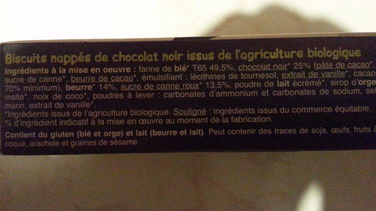Biscuits nappés chocolat noir - Ingredients