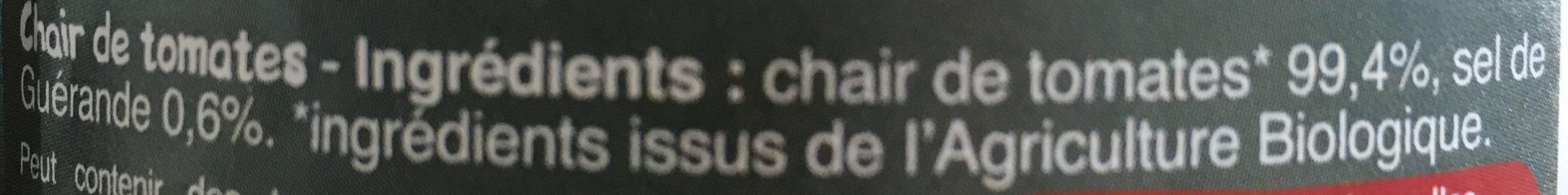 Chair de tomates - Ingrédients - fr
