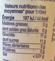 Pétillant de fruits - 100% pomme - Informations nutritionnelles - fr