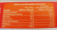 Sablés 6 Céréales Complète Chocolat Au Lait - Informations nutritionnelles