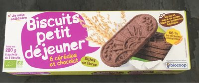 Biscuits petit déjeuner - 6 céréales et chocolat - Product