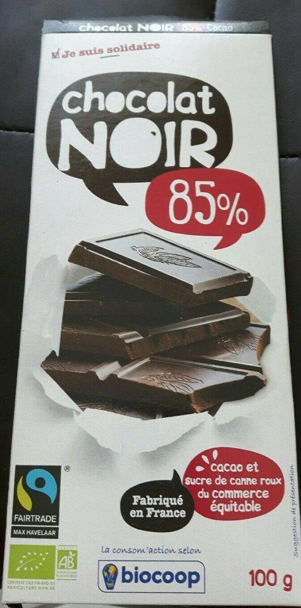 Chocolat noir 85% cacao - Product - fr
