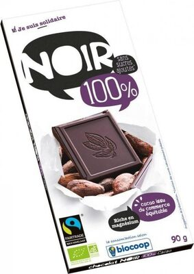 Chocolat noir 100% cacao sans sucre - Product - fr