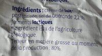 Beurre de baratte demi-sel - Ingrediënten - fr