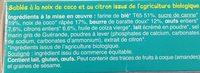 Sablés Coco Citron - Ingrediënten