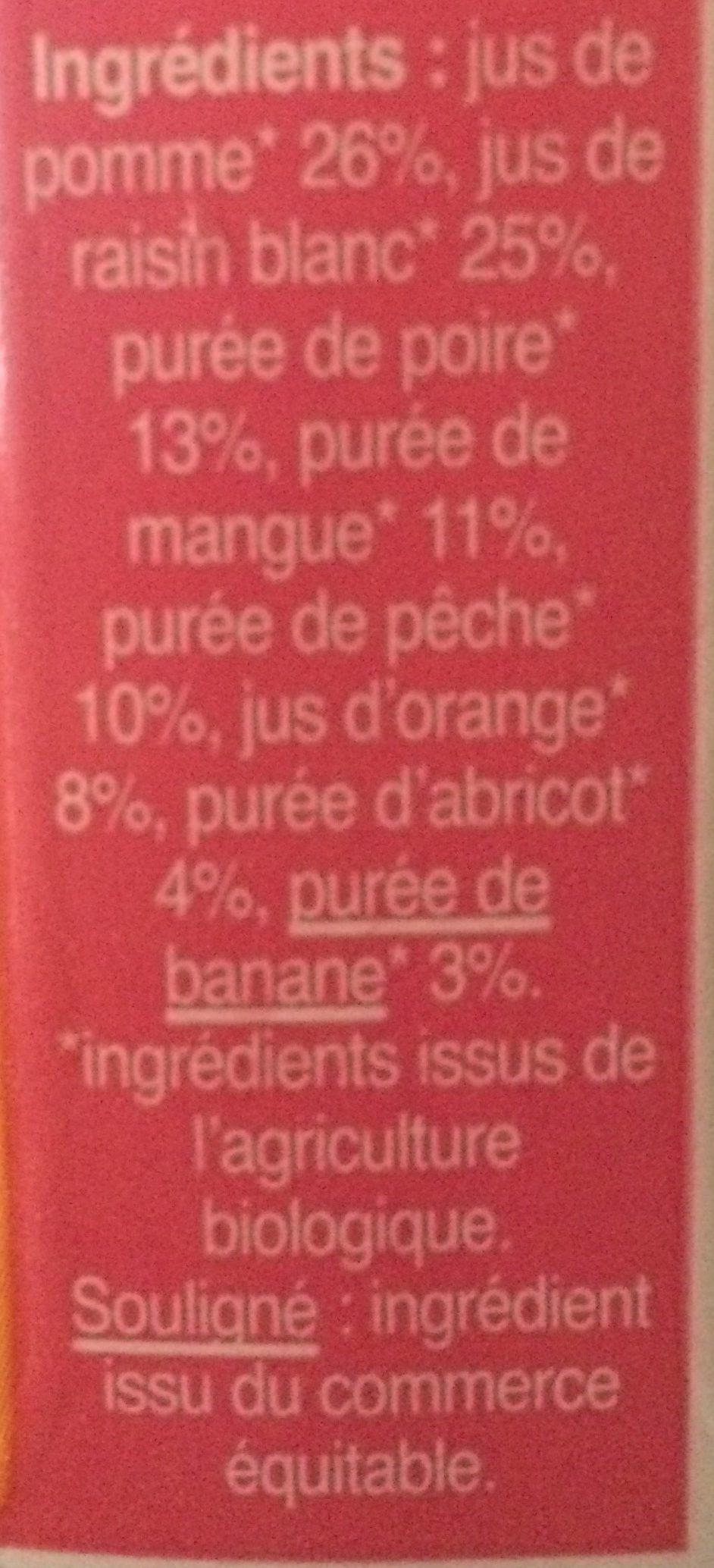 Pur jus multifruits equitable biocoop 6x20cl - Ingrediënten - fr