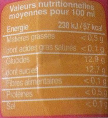 Pur jus multifruits equitable biocoop 6x20cl - Voedingswaarden - fr
