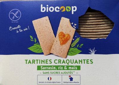 Tartines craquantes Sarrasin, riz & maïs - Product - fr