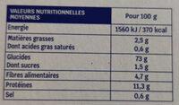 Tartines craquantes Sarrasin, riz & maïs - Nutrition facts - fr