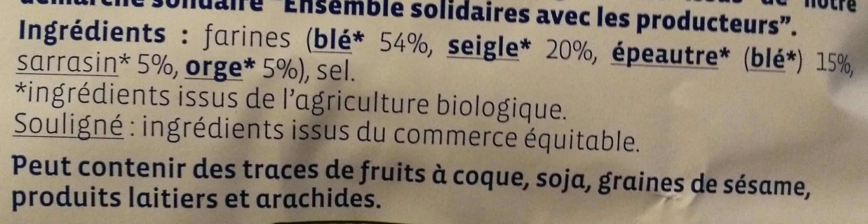 Pétales 5 céréales - Ingrédients - fr