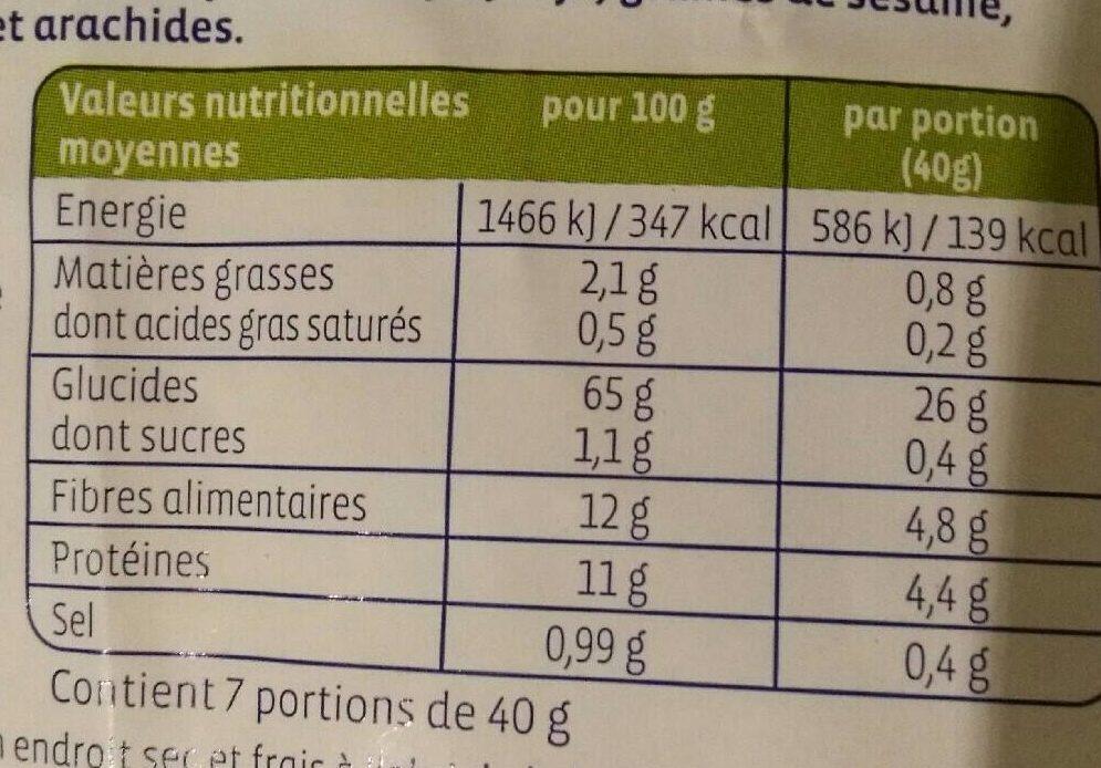 Pétales 5 céréales - Informations nutritionnelles - fr