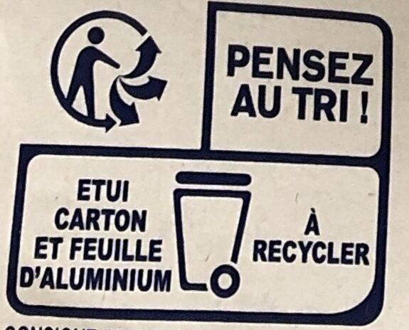 Chocolat noir 70% fleur de sel - Istruzioni per il riciclaggio e/o informazioni sull'imballaggio - fr
