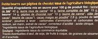Petit beurre pépites de chocolat - Ingredients