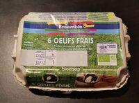 6 oeufs frais - Produit - fr