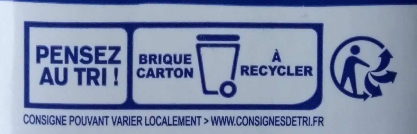 Velouté potimarron et lait de coco - Instruction de recyclage et/ou informations d'emballage - fr