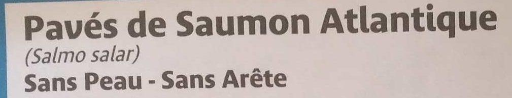 Pavés de Saumon Atlantique - Ingrediënten - fr