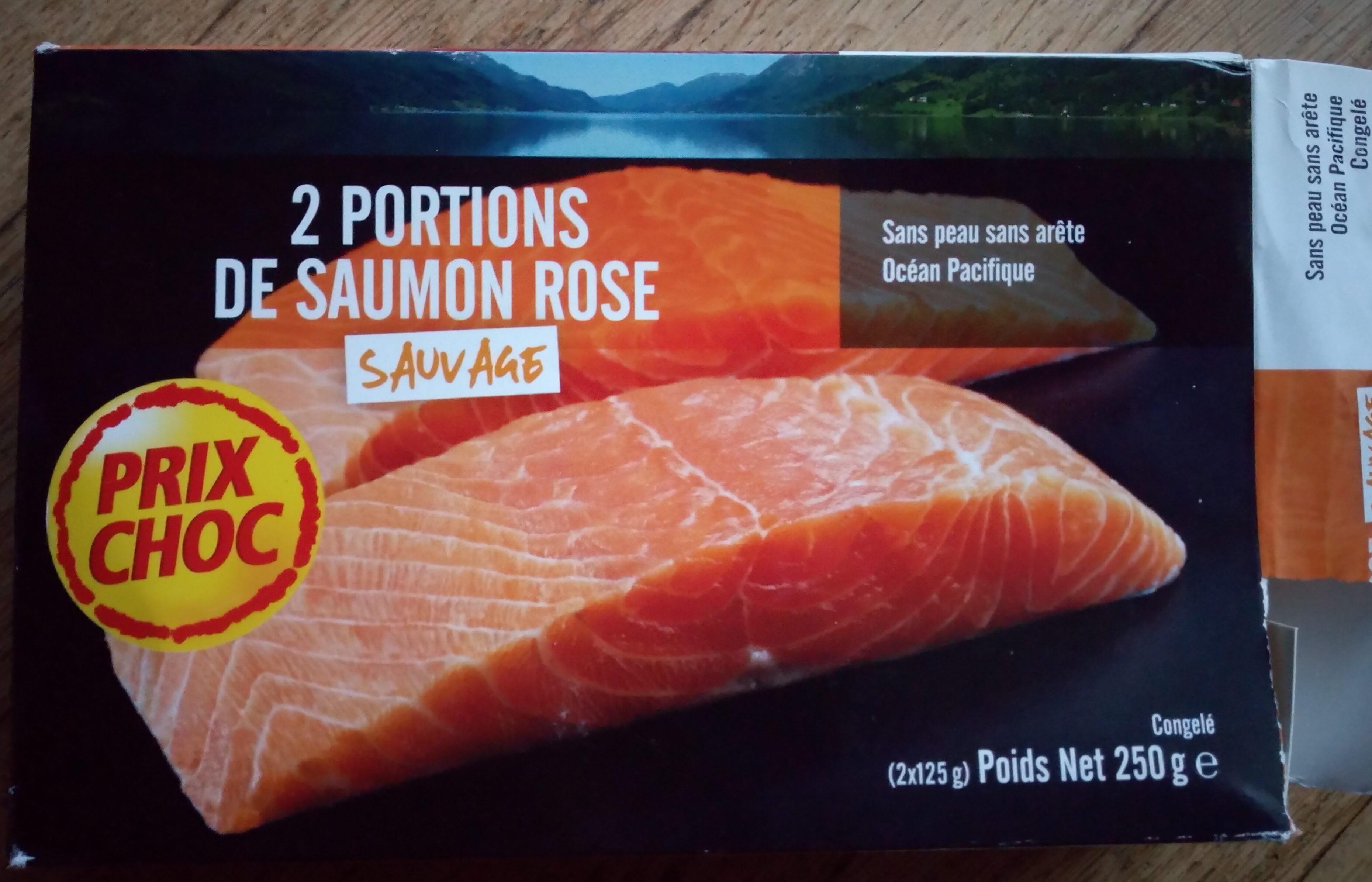 2 portions de saumon rose sauvage - Product - fr